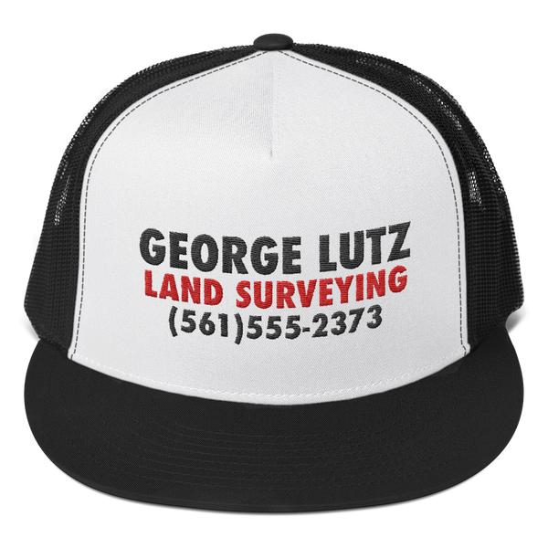 George Lutz Land Surveying - Amityville Horror Trucker Cap