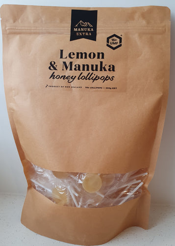 Manuka Honey UMF 15+ and Lemon Lollipops