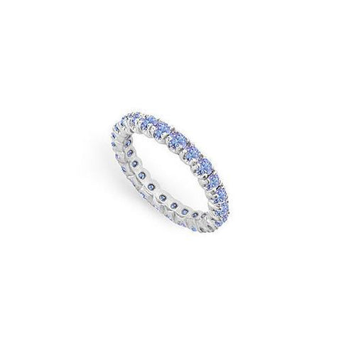 Tanzanite Eternity Band : 14K White Gold - 1.00 CT TGW