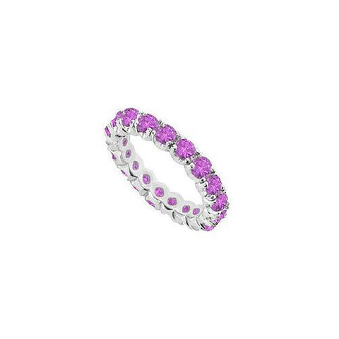 Amethyst Eternity Band : 14K White Gold - 2.00 CT TGW