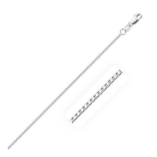 10k White Gold Octagonal Box Chain 1.2mm, size 18''