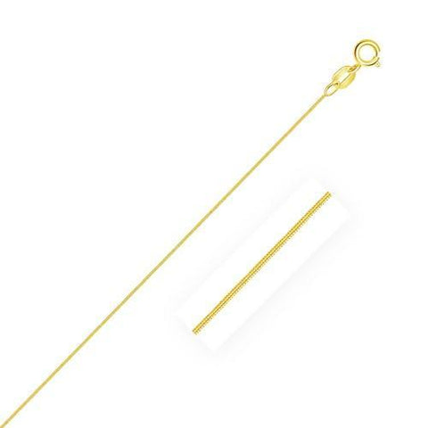 14k Yellow Gold Foxtail Chain 0.9mm, size 18''