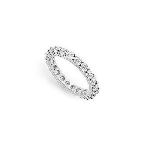 Cubic Zirconia Eternity Band : .925 Sterling Silver - 1.50 CT TGW