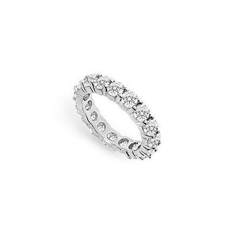 Cubic Zirconia Eternity Band : .925 Sterling Silver - 3.00 CT TGW