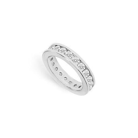 Cubic Zirconia Eternity Band : .925 Sterling Silver - 2.00 CT TGW