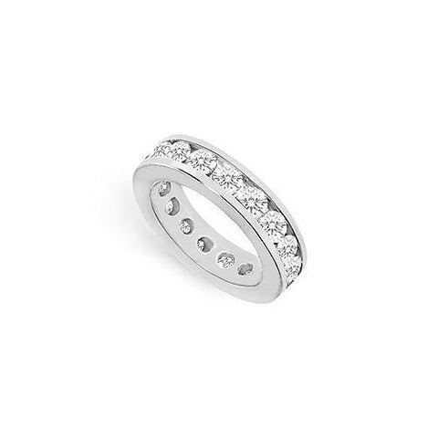 Cubic Zirconia Eternity Band : .925 Sterling Silver - 4.00 CT TGW