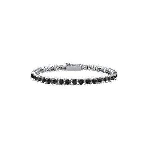Black Diamond Tennis Bracelet : 925 Sterling Silver - 1.00 CT Diamonds
