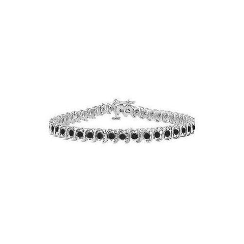 Black Diamond S Tennis Bracelet : 925 Sterling Silver - 1.00 CT Diamonds