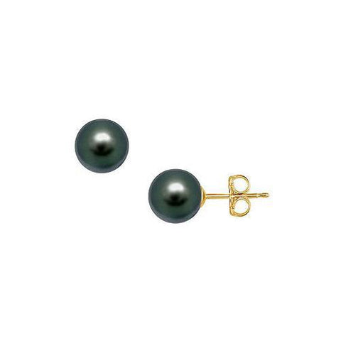 Freshwater Cultured Pearl Stud Earrings : 14K Yellow Gold – 11 MM
