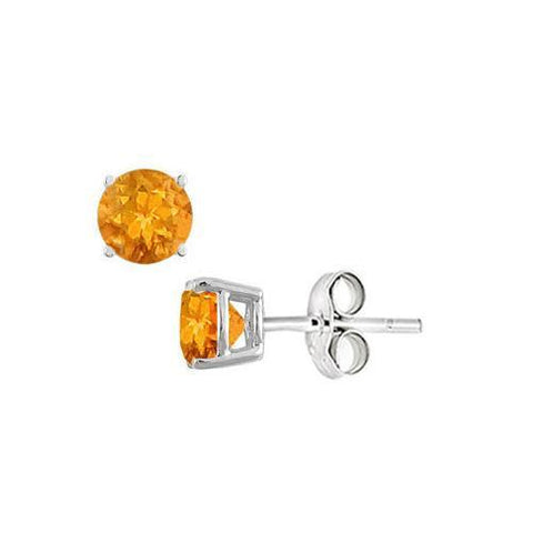 Citrine Stud Earrings in Sterling Silver 2.00 CT TGW