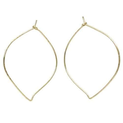 Hoops - Leaf XL - Silver