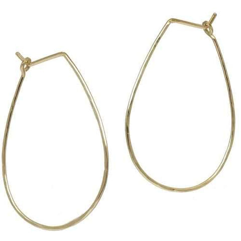Hoops - Teardrop L - Gold