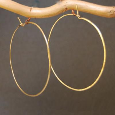 Hoop Earrings - XXL - Silver