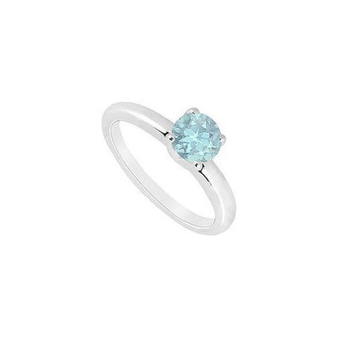 Aquamarine Ring : 14K White Gold - 1.00 CT TGW