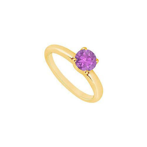 Amethyst  Ring : 14K Yellow Gold - 1.00 CT TGW