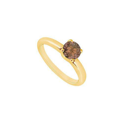 Smoky Topaz Ring : 14K Yellow Gold - 1.00 CT TGW