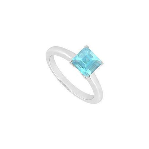 Aquamarine Ring : 14K White Gold - 0.75 CT TGW