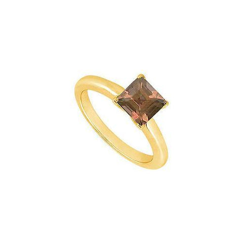 Smoky Topaz Ring : 14K Yellow Gold - 0.75 CT TGW