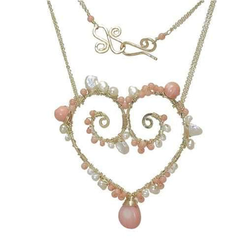 Necklace 342 - choice of stone - RoseGold