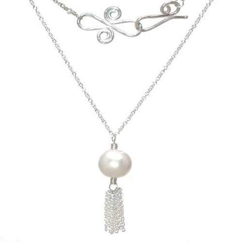 Necklace 348 - choice of stone - Silver