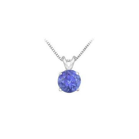 Tanzanite Prong Set Sterling Silver Solitaire Pendant 1.00 CT TGW