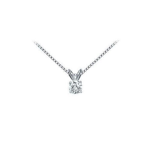 Platinum : Round Diamond Solitaire Pendant - 0.25 CT. TW.
