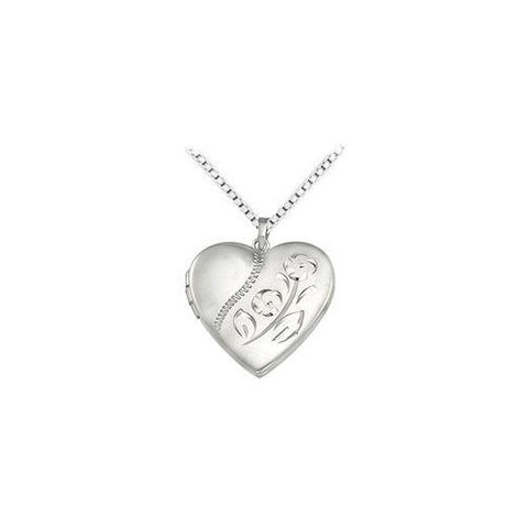 Sterling Silver Heart Locket Pendant - 21.00 X 20.00 MM