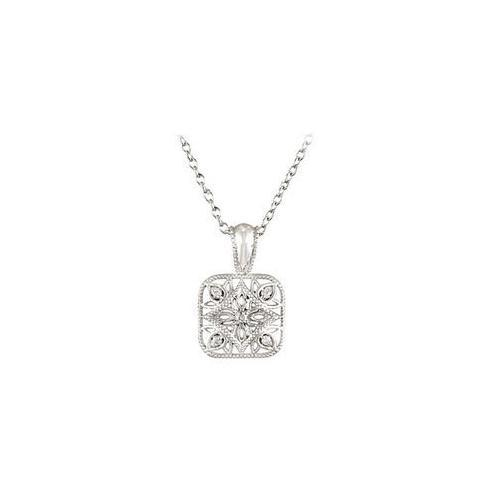 "Sterling Silver 0.05 CT TW Diamond 18"" Necklace"