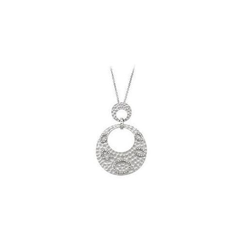 Sterling Silver Rhodium Plated with Cubic Zirconia  Pendant
