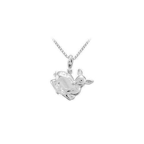 Sterling Silver Charming Animal Deer Charm Pendant