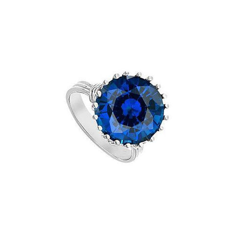 Diffuse Sapphire Fashion Mounting Solitaire Ring : 14K White Gold - 1.00 CT TGW