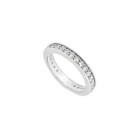 Cubic Zirconia Wedding Band .925 Sterling Silver 0.50 CT TGW