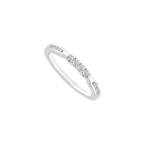 Diamond Wedding Band : 14K White Gold - 0.25 CT Diamonds
