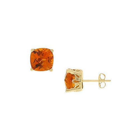 Citrine Earrings : 14K Yellow Gold - 2.25 CT TGW