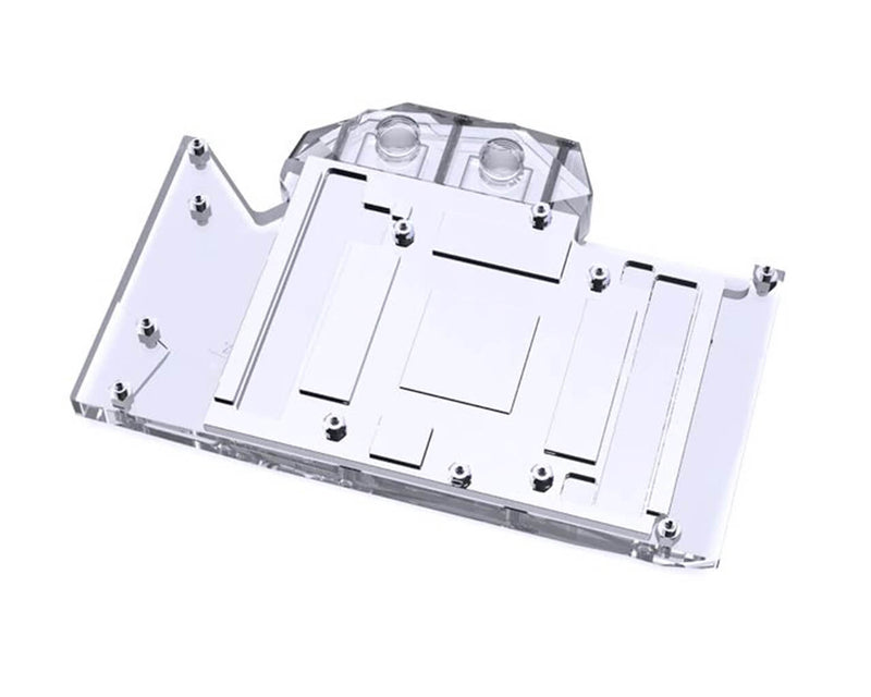 Bykski Full Coverage GPU Water Block and Backplate for RTX 3080 Founders Edition (N-RTX3080FE-X) - Clear