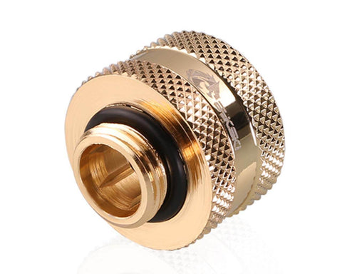 Bykski Rigid 16mm OD Fitting V2 - Gold (B-HTJV2-L16)