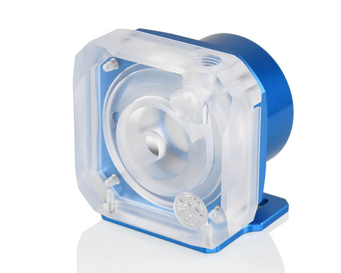 Bykski D5 Pump Top Kit Version 2 - Frosted PMMA - Blue