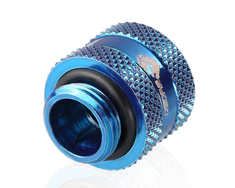 Bykski Rigid 12mm OD Fitting V2 - Blue (B-HTJV2-L12)