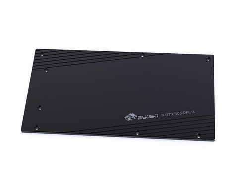 Bykski GPU Water Block Backplate for RTX 3080/3090 Founders Edition - Black