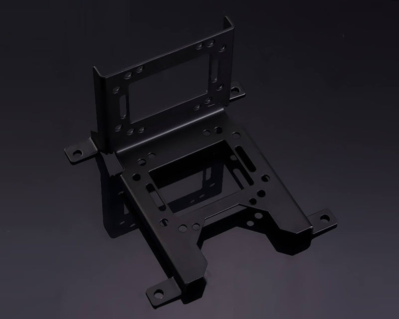 Bykski 120mm Multi Function 90 Degree Shelf Style Water Cooling Bracket - Black (B-PMFS)