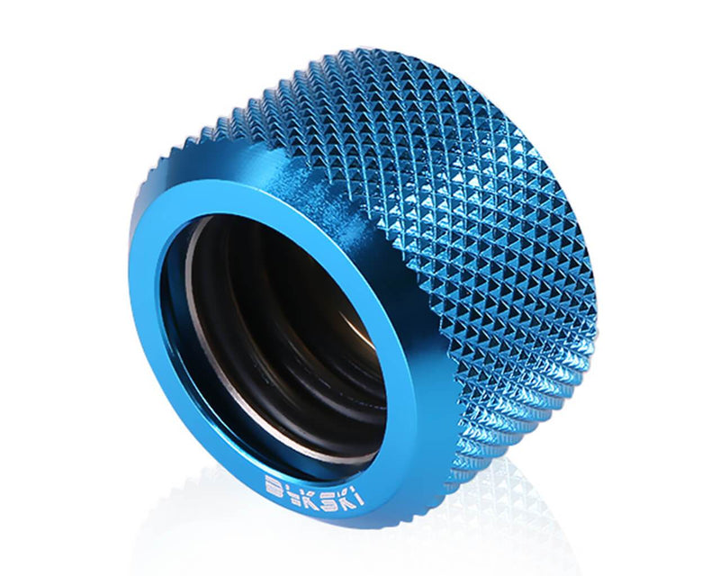 Bykski Rigid 16mm OD Fitting - Blue (B-HTJ-L16)