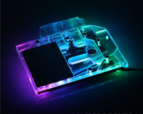 Bykski MSI GTX 1660 / RTX 2060 Ventus Full Coverage GPU Water Block - Clear (N-MS2060VTS-X)