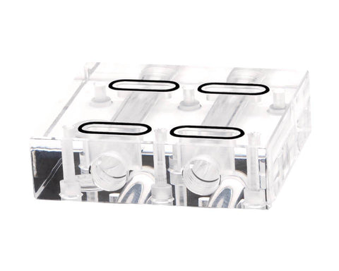 Bykski Dual GPU 40mm SLI/CF Connection Bridge Block - Clear (L4-2WAY)