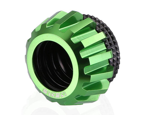 Bykski Rigid 14mm OD Fitting Gears Style - Green (B-FSIHTJ-AL)