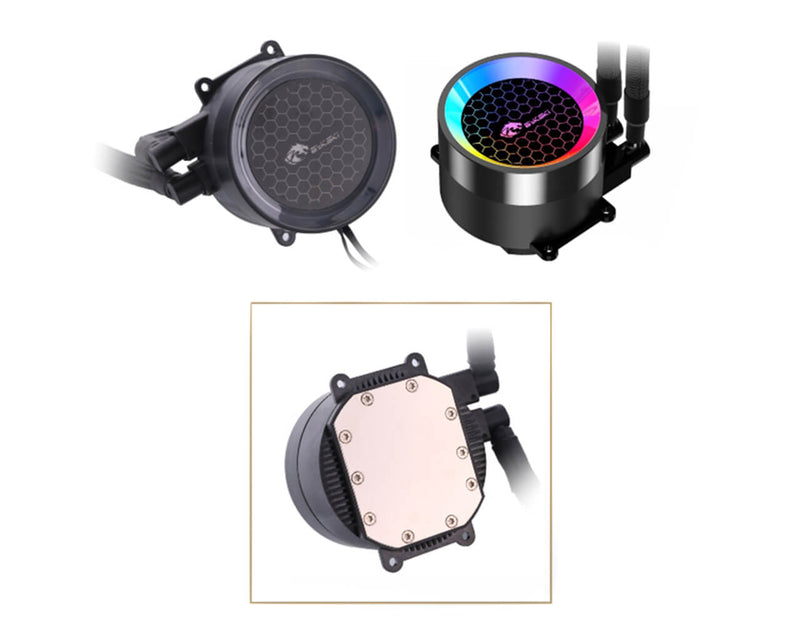 Bykski AIO Integrated Liquid CPU Cooler w/ A-RGB - 120mm (B-FRD120-RBW)
