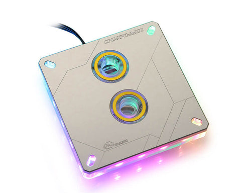 Bykski CPU-XPR-A-MK CPU Water Cooling Block - Silver w/ 5v Addressable RGB (RBW) (LGA 115x / 20xx)