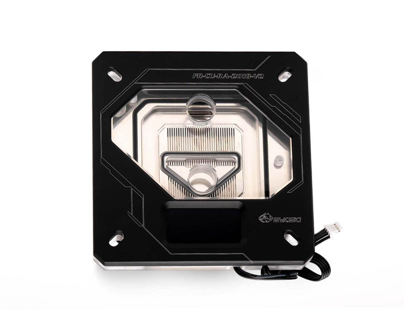 Bykski FR-CU-RA-V2 CPU Water Cooling Block w/ Temp Digital Display - Black w/ 5v Addressable RGB (RBW) (LGA 115x / LGA 20xx)