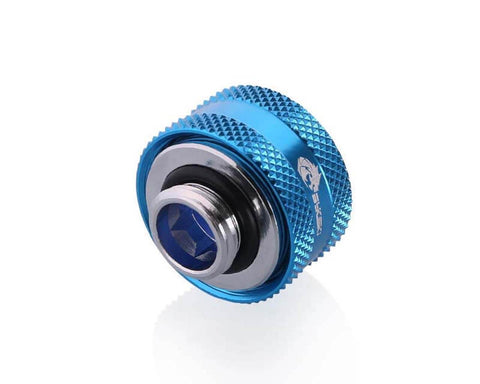 Bykski Anti-Off Rigid 16mm OD Fitting - Blue (B-FTHTJ-L16)