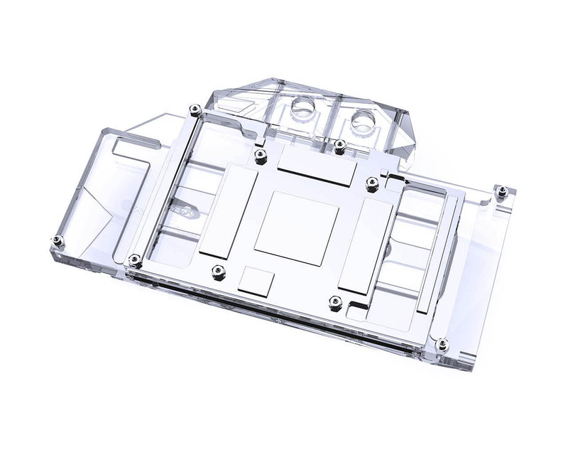 Bykski Full Coverage GPU Water Block and Backplate for AIC Reference RTX 3080/3090 (N-RTX3090H-X) - Clear