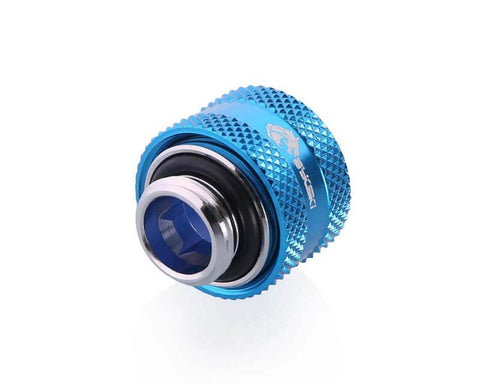 Bykski Anti-Off Rigid 12mm OD Fitting - Blue (B-FTHTJ-L12)